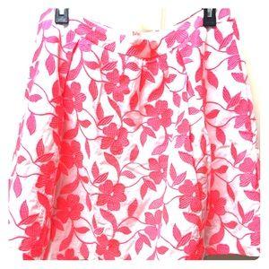 J.crew embroidered skirt